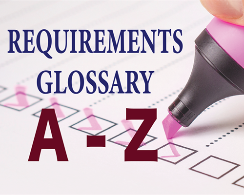 Requirements Glossary from A to Z