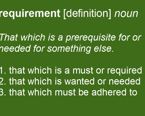 Requirement [Definition]